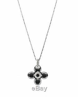 Roberto Coin 18k White Gold And Enamel Diamond Necklace 2730287AWCHX