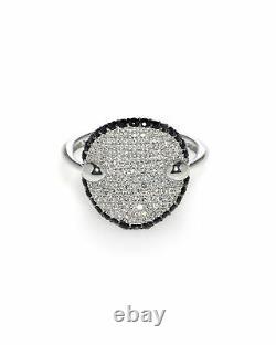 Roberto Coin 18k White Gold Diamond 0.55ct Sapphire Ring Sz 6.5 488110AW65BD