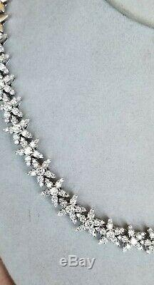 Roberto Coin 18k White Gold Diamond Flower Necklace 9.6ct $40,000 16 50g Video