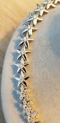Roberto Coin 18k White Gold Diamond Flower Necklace 9.6ct $40,000 16 50g Video