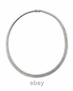 Roberto Coin 18k White Gold Diamond Necklace 097460AWCHDD