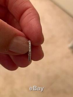 Roberto Coin 18k White Gold Diamond Pave Hoop Earrings Women Fine Jewelry SALE