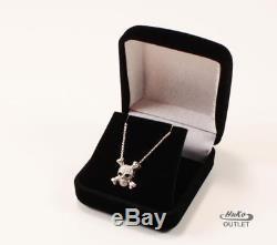Roberto Coin 18k White Gold Diamond Skull Crossbones Necklace Pendant