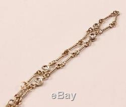 Roberto Coin 18k White Gold Dog Bone By The Yard 4-station Diamond Bracelet