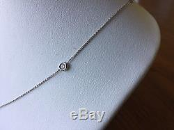 Roberto Coin 18k White Gold Five-Station Diamond By the Inch Necklace