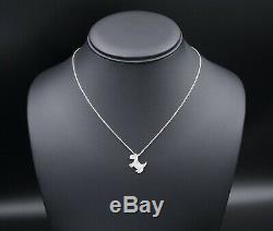 Roberto Coin 18k White Gold Pave Diamond Scottie Dog Pendant Necklace 16 NG681