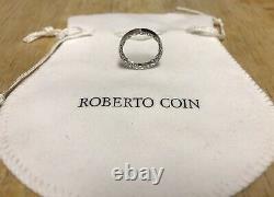 Roberto Coin 18k White Gold Princess Band Sz 7 NWOT