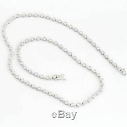 Roberto Coin 18k White Gold Round Brilliant Diamond Tennis 15.2 inch Necklace