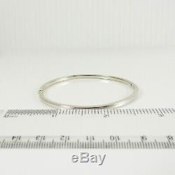 Roberto Coin 18k White Gold Thin Bangle Bracelet