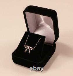 Roberto Coin 18k White Gold With Diamond Bow Necklace Pendant