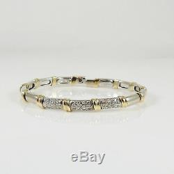 Roberto Coin 18k White Yellow Gold. 48tcw Flexible Diamond Nabucco Bracelet
