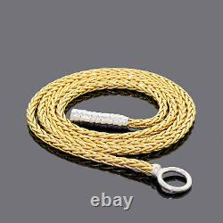 Roberto Coin 18k White Yellow Gold Lariat Chain Necklace 24' 16.8GR Please Read
