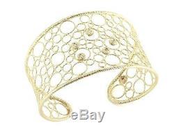 Roberto Coin 18k Yellow Bollicine Cuff Bracelet