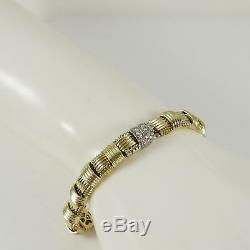 Roberto Coin 18k Yellow Gold. 18tcw Single Row Appassionata Diamond Bracelet