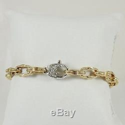 Roberto Coin 18k Yellow Gold. 19tcw 7.75 Appassionata Chain Link Bracelet