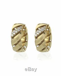 Roberto Coin 18k Yellow Gold And 18k White Gold Diamond Earrings 7771406AYERX