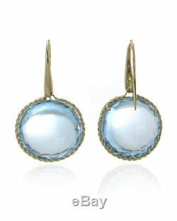 Roberto Coin 18k Yellow Gold And Blue Topaz Earrings 367130AYERBT