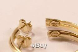 Roberto Coin 18k Yellow Gold Crossover Hoop Earrings 1.5 Inch/38.14mm