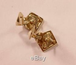 Roberto Coin 18k Yellow Gold Curvy Diamond Shape Post Stud Snap Closure Earrings