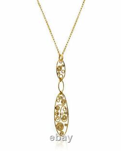 Roberto Coin 18k Yellow Gold Diamond(0.16ct Twd.)Necklace 915201AYCHX0
