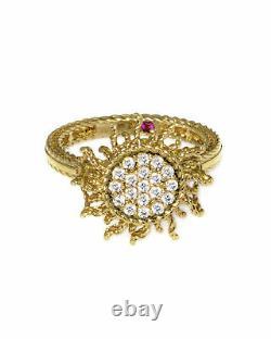 Roberto Coin 18k Yellow Gold Diamond(0.23ct Twd.)Ring Sz 6.5 7771935AY65X