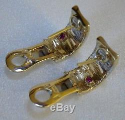 Roberto Coin 18k Yellow Gold & Diamond Earrings, Flex Collection, Original Box
