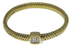 Roberto Coin 18k Yellow Gold & Diamond Primavera Flexible Bangle Bracelet $2,700