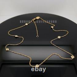 Roberto Coin 18k Yellow Gold Diamond Seven Station Necklace New $1340