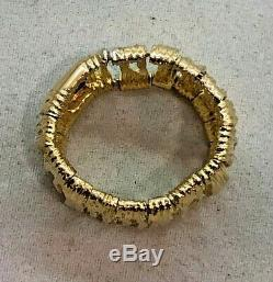 Roberto Coin 18k Yellow Gold Elephantino Ring Size 7 ½ Italy