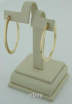 Roberto Coin 18k Yellow Gold Oval Hoop Earrings