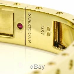 Roberto Coin 18k Yellow Gold Pois Moi Two-Row Diamond Bangle