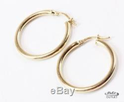 Roberto Coin 18k Yellow Gold Round Circle Shape 1 Inch Hoop Earrings