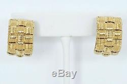 Roberto Coin 18k Yellow Gold Wide 3-Row Appassionata Earrings for Pierced Ears 2