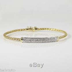 Roberto Coin 18k Yellow Goldwhite Gold. 35tcw Diamond Spiga Bracelet