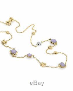 Roberto Coin 18k Yellow & White Gold &d Enamel Diamond Necklace 915915AJCHJX