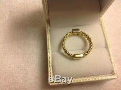 Roberto Coin 18k Yellow and White Gold Woven Ring $990 ITALY