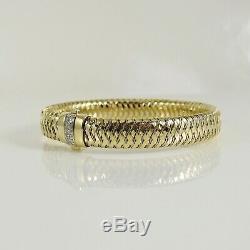 Roberto Coin 18k Yellowwhite Gold. 10tcw Small Pave Diamond Primavera Bracelet