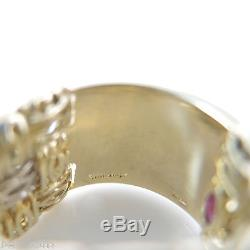 Roberto Coin 18k Yellowwhite Gold. 31tcw 3-row Diamond Appassionata Band Ring