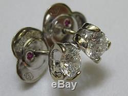 Roberto Coin 18k white gold. 80 Carat Diamond Earrings