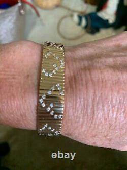 Roberto Coin 18kt Gold and Diamond Flexible Bracelet