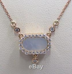 Roberto Coin 18kt Rose Gold Mother of Pearl and Diamond Pendant with14kt Chain