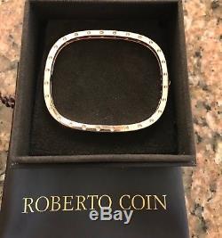 Roberto Coin 18kt Rose Gold Pois Moi Single Row Diamond Bangle Bracelet, Bnib