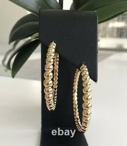Roberto Coin 18kt Yellow Gold Bead like 2 Hoops