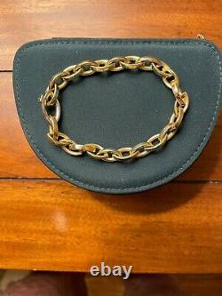 Roberto Coin 18kt Yellow Gold Link Bracelet 7.5 With Signature Ruby