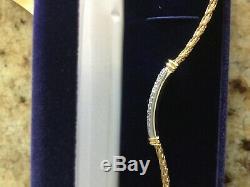 Roberto Coin 18kt gold Woven Diamond Bracelet