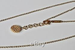 Roberto Coin $2200 18K Yellow Gold Round Pendant Necklace Brand New On Sale