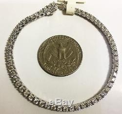 Roberto Coin 3CT Diamond 18K White Gold Bracelet Tennis Bangle Women Lady ITALY