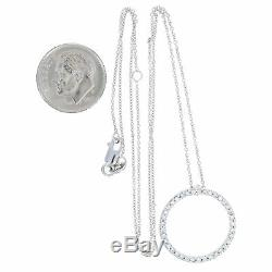 Roberto Coin. 42ctw Diamond Tiny Treasures Circle Pendant Necklace 18k Gold