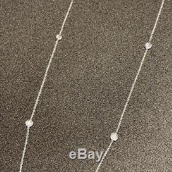Roberto Coin 5 Diamonds By The Inch Station Necklace 18K White Gold 18KT 18