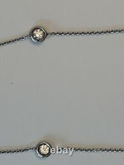 Roberto Coin 7 Station Diamond 18K White Gold Necklace Buy It Now, Best Offer